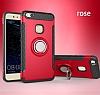 Eiroo Mage Fit Huawei P10 Lite Standlı Ultra Koruma Kırmızı Kılıf - Resim 9