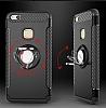 Eiroo Mage Fit Huawei P10 Lite Standlı Ultra Koruma Siyah Kılıf - Resim 6