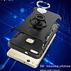 Eiroo Mage Fit Huawei P10 Lite Standlı Ultra Koruma Siyah Kılıf - Resim 4
