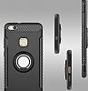 Eiroo Mage Fit Huawei P10 Lite Standlı Ultra Koruma Siyah Kılıf - Resim 5