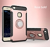 Eiroo Mage Fit Huawei P10 Lite Standlı Ultra Koruma Rose Gold Kılıf - Resim 9