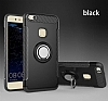 Eiroo Mage Fit Huawei P10 Lite Standlı Ultra Koruma Siyah Kılıf - Resim 9