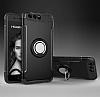Eiroo Mage Fit Huawei P10 Plus Standlı Ultra Koruma Siyah Kılıf - Resim 7