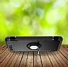 Eiroo Mage Fit Huawei P10 Plus Standlı Ultra Koruma Lacivert Kılıf - Resim 4