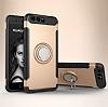 Eiroo Mage Fit Huawei P10 Plus Standlı Ultra Koruma Gold Kılıf - Resim 7
