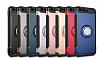 Eiroo Mage Fit Huawei P10 Plus Standlı Ultra Koruma Siyah Kılıf - Resim 1