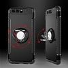 Eiroo Mage Fit Huawei P10 Plus Standlı Ultra Koruma Siyah Kılıf - Resim 2