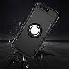 Eiroo Mage Fit Huawei P10 Plus Standlı Ultra Koruma Siyah Kılıf - Resim 3
