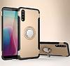 Eiroo Mage Fit Huawei P20 Pro Standlı Ultra Koruma Gold Kılıf - Resim 7