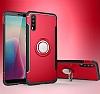 Eiroo Mage Fit Huawei P20 Standlı Ultra Koruma Kırmızı Kılıf - Resim 6