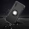 Eiroo Mage Fit Huawei P20 Standlı Ultra Koruma Kırmızı Kılıf - Resim 2