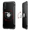 Eiroo Mage Fit Huawei P20 Standlı Ultra Koruma Kırmızı Kılıf - Resim 1
