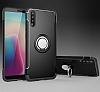 Eiroo Mage Fit Huawei P20 Standlı Ultra Koruma Siyah Kılıf - Resim 6