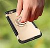 Eiroo Mage Fit iPhone 6 / 6S Standlı Ultra Koruma Silver Kılıf - Resim 1