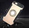 Eiroo Mage Fit iPhone 6 / 6S Standlı Ultra Koruma Rose Gold Kılıf - Resim 3