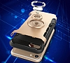 Eiroo Mage Fit iPhone 6 / 6S Standlı Ultra Koruma Rose Gold Kılıf - Resim 4