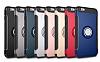 Eiroo Mage Fit iPhone 6 Plus / 6S Plus Standlı Ultra Koruma Silver Kılıf - Resim 3
