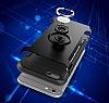 Eiroo Mage Fit iPhone 6 Plus / 6S Plus Standlı Ultra Koruma Silver Kılıf - Resim 5