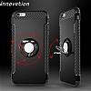 Eiroo Mage Fit iPhone 6 Plus / 6S Plus Standlı Ultra Koruma Silver Kılıf - Resim 7