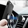 Eiroo Mage Fit iPhone 6 Plus / 6S Plus Standlı Ultra Koruma Silver Kılıf - Resim 4