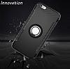 Eiroo Mage Fit iPhone 6 Plus / 6S Plus Standlı Ultra Koruma Silver Kılıf - Resim 6
