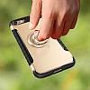 Eiroo Mage Fit iPhone 7 / 8 Standlı Ultra Koruma Lacivert Kılıf - Resim 10