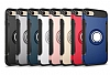 Eiroo Mage Fit iPhone 7 / 8 Standlı Ultra Koruma Lacivert Kılıf - Resim 2