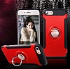 Eiroo Mage Fit iPhone 7 / 8 Standlı Ultra Koruma Lacivert Kılıf - Resim 7