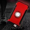 Eiroo Mage Fit iPhone 7 / 8 Standlı Ultra Koruma Lacivert Kılıf - Resim 3