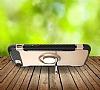 Eiroo Mage Fit iPhone 7 / 8 Standlı Ultra Koruma Lacivert Kılıf - Resim 1