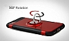 Eiroo Mage Fit iPhone 7 / 8 Standlı Ultra Koruma Lacivert Kılıf - Resim 6