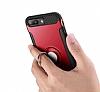 Eiroo Mage Fit iPhone 7 Plus / 8 Plus Standlı Ultra Koruma Silver Kılıf - Resim 2