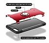 Eiroo Mage Fit iPhone 7 Plus / 8 Plus Standlı Ultra Koruma Silver Kılıf - Resim 6