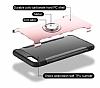 Eiroo Mage Fit iPhone 7 Plus / 8 Plus Standlı Ultra Koruma Silver Kılıf - Resim 3