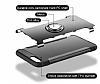 Eiroo Mage Fit iPhone 7 Plus / 8 Plus Standlı Ultra Koruma Silver Kılıf - Resim 1