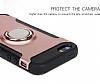 Eiroo Mage Fit iPhone SE / 5 / 5S Standlı Ultra Koruma Rose Gold Kılıf - Resim 7