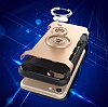 Eiroo Mage Fit iPhone SE / 5 / 5S Standlı Ultra Koruma Rose Gold Kılıf - Resim 6