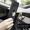 Eiroo Mage Fit iPhone SE / 5 / 5S Standlı Ultra Koruma Rose Gold Kılıf - Resim 5