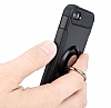 Eiroo Mage Fit iPhone SE / 5 / 5S Standlı Ultra Koruma Silver Kılıf - Resim 4