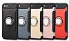 Eiroo Mage Fit iPhone SE / 5 / 5S Standlı Ultra Koruma Rose Gold Kılıf - Resim 8