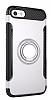 Eiroo Mage Fit iPhone SE / 5 / 5S Standlı Ultra Koruma Silver Kılıf - Resim 9