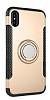 Eiroo Mage Fit iPhone X Standlı Ultra Koruma Gold Kılıf - Resim 8