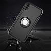 Eiroo Mage Fit iPhone X Standlı Ultra Koruma Silver Kılıf - Resim 7