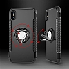 Eiroo Mage Fit iPhone X Standlı Ultra Koruma Silver Kılıf - Resim 6
