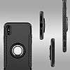 Eiroo Mage Fit iPhone X Standlı Ultra Koruma Silver Kılıf - Resim 3