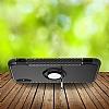 Eiroo Mage Fit iPhone X Standlı Ultra Koruma Silver Kılıf - Resim 1