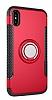 Eiroo Mage Fit iPhone X Standlı Ultra Koruma Kırmızı Kılıf - Resim 8