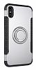 Eiroo Mage Fit iPhone X Standlı Ultra Koruma Silver Kılıf - Resim 8