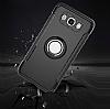 Eiroo Mage Fit Samsung Galaxy J5 2016 Standlı Ultra Koruma Siyah Kılıf - Resim 7