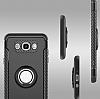 Eiroo Mage Fit Samsung Galaxy J5 2016 Standlı Ultra Koruma Siyah Kılıf - Resim 1